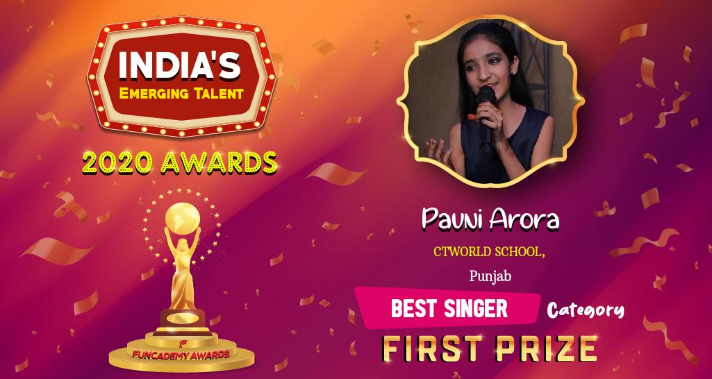 <b>BEST SINGER - WINNER</b>